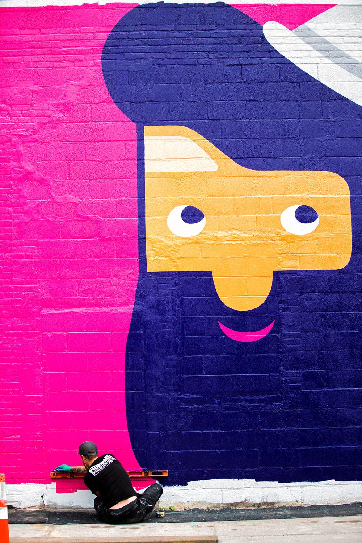 noma bar lyft illustrations mural