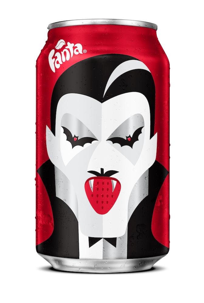 Noma Bar design for Fanta Halloween • Strawberry Drac