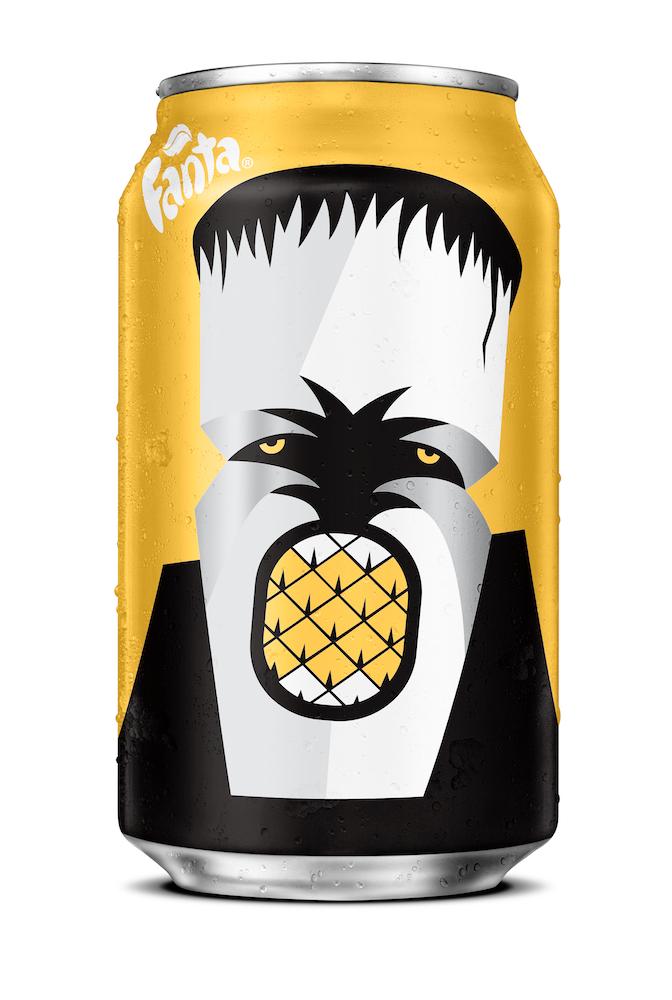 Noma Bar Fanta Halloween 2016 • Pineapple Frankenstein