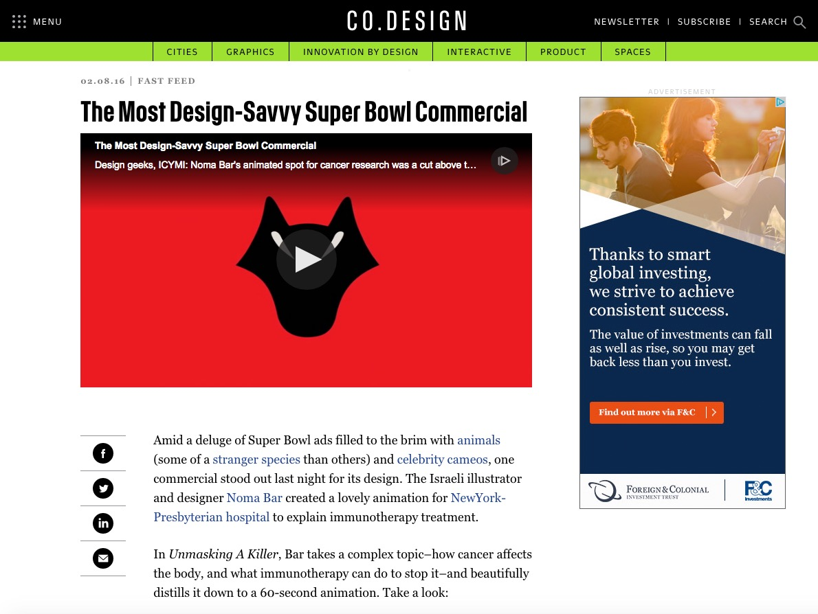 FASTCO - Most Desivy Savvy Superbowl Ad
