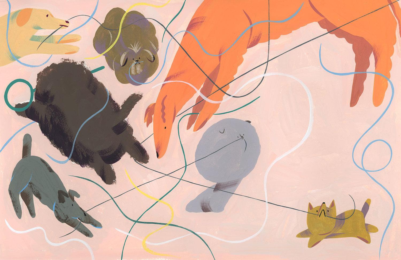 Ping Zhu - Google Canvas - Dogs