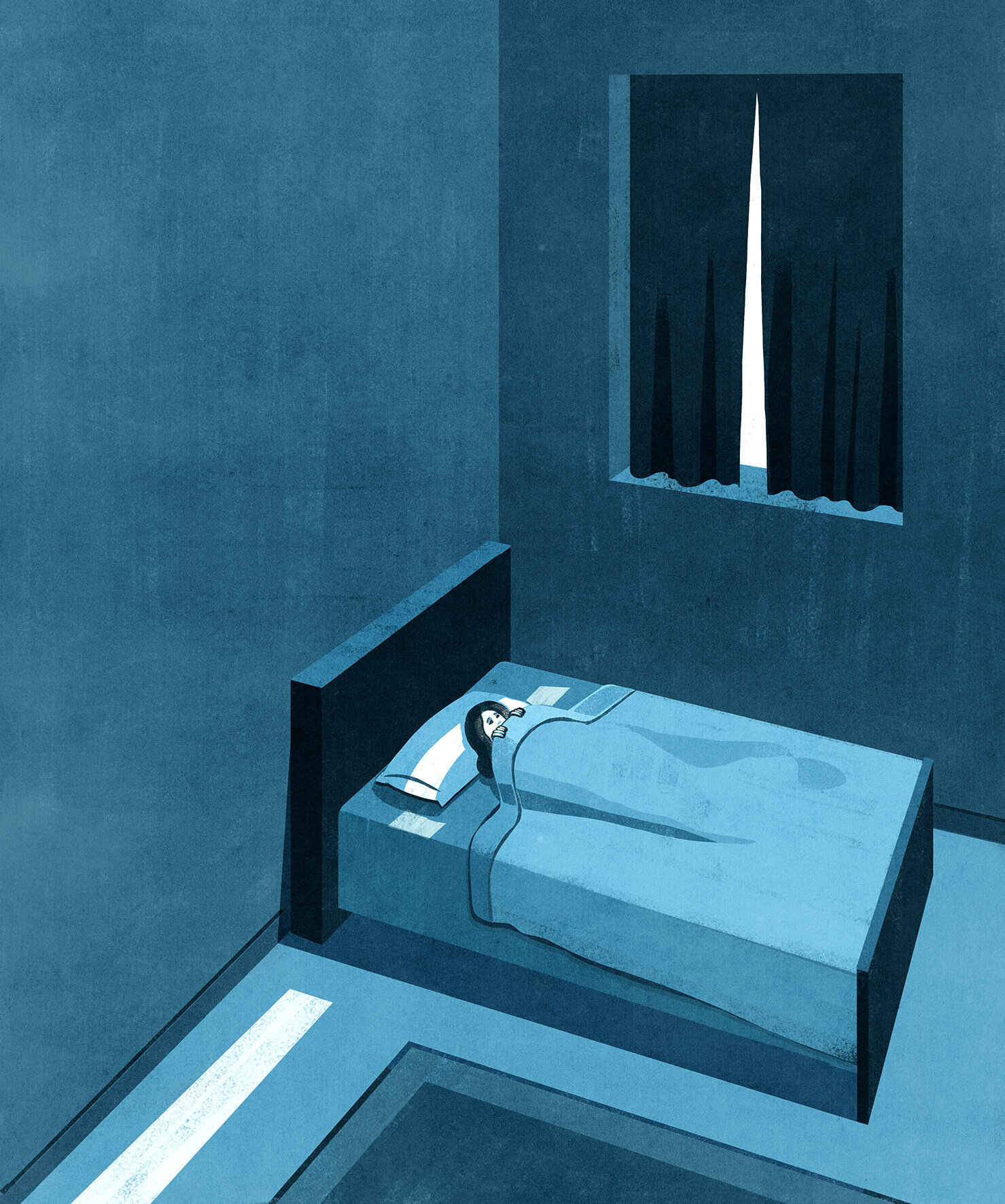 Oprah Magazine - Anxiety Illustration