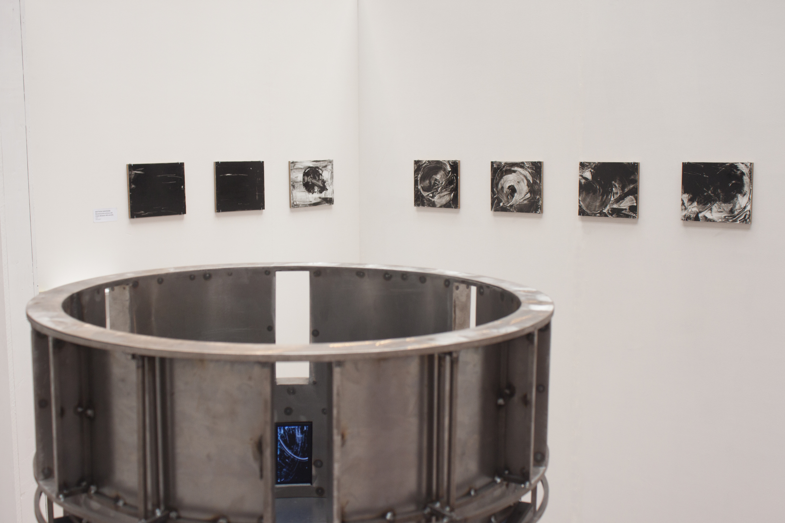 Installation view from The Cyclorama Show: 2014 MFA Thesis Exhibition, School of the Museum of Fine Arts, Boston