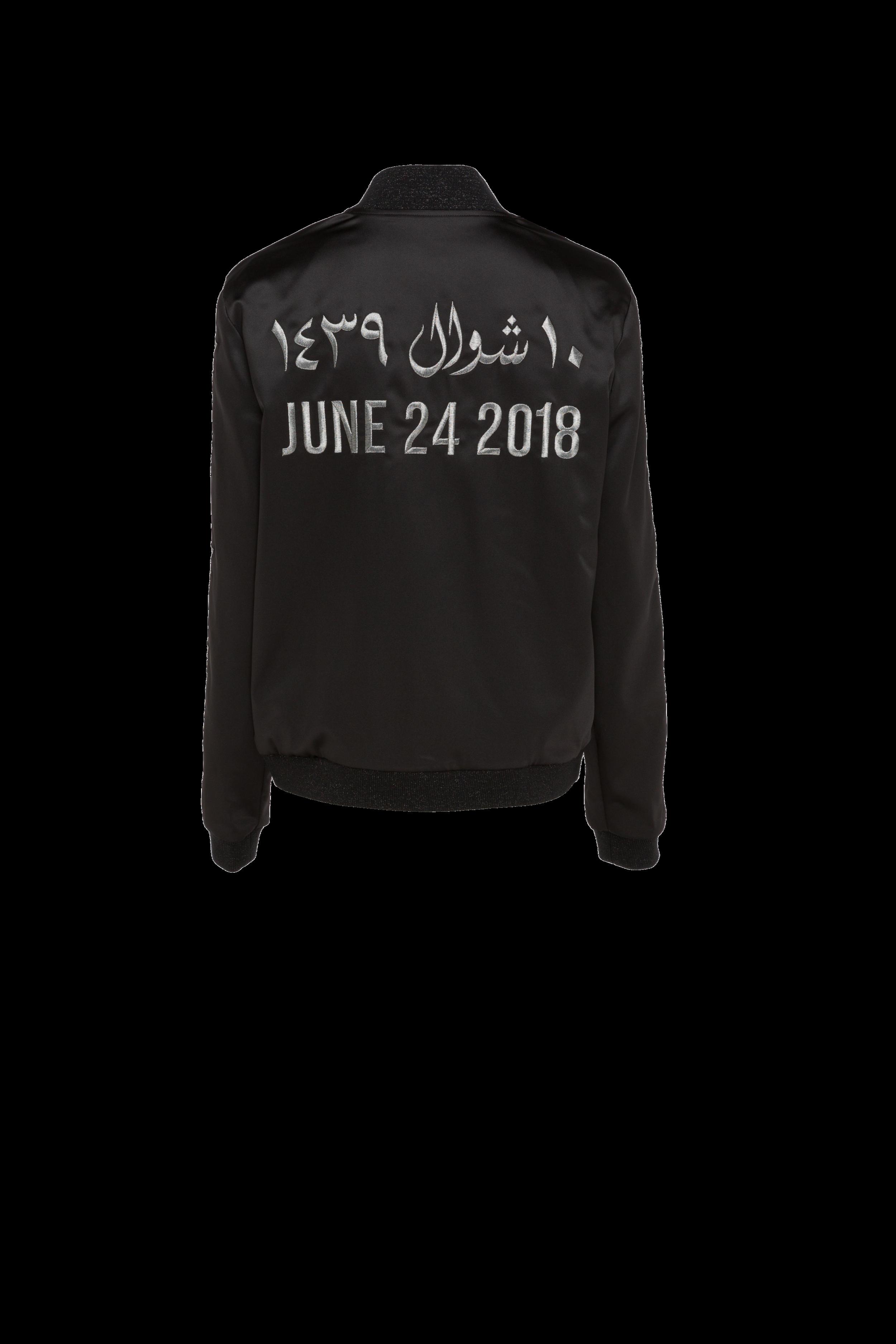 June 24 Driving Jacket Black/Platinum (UNISEX)
