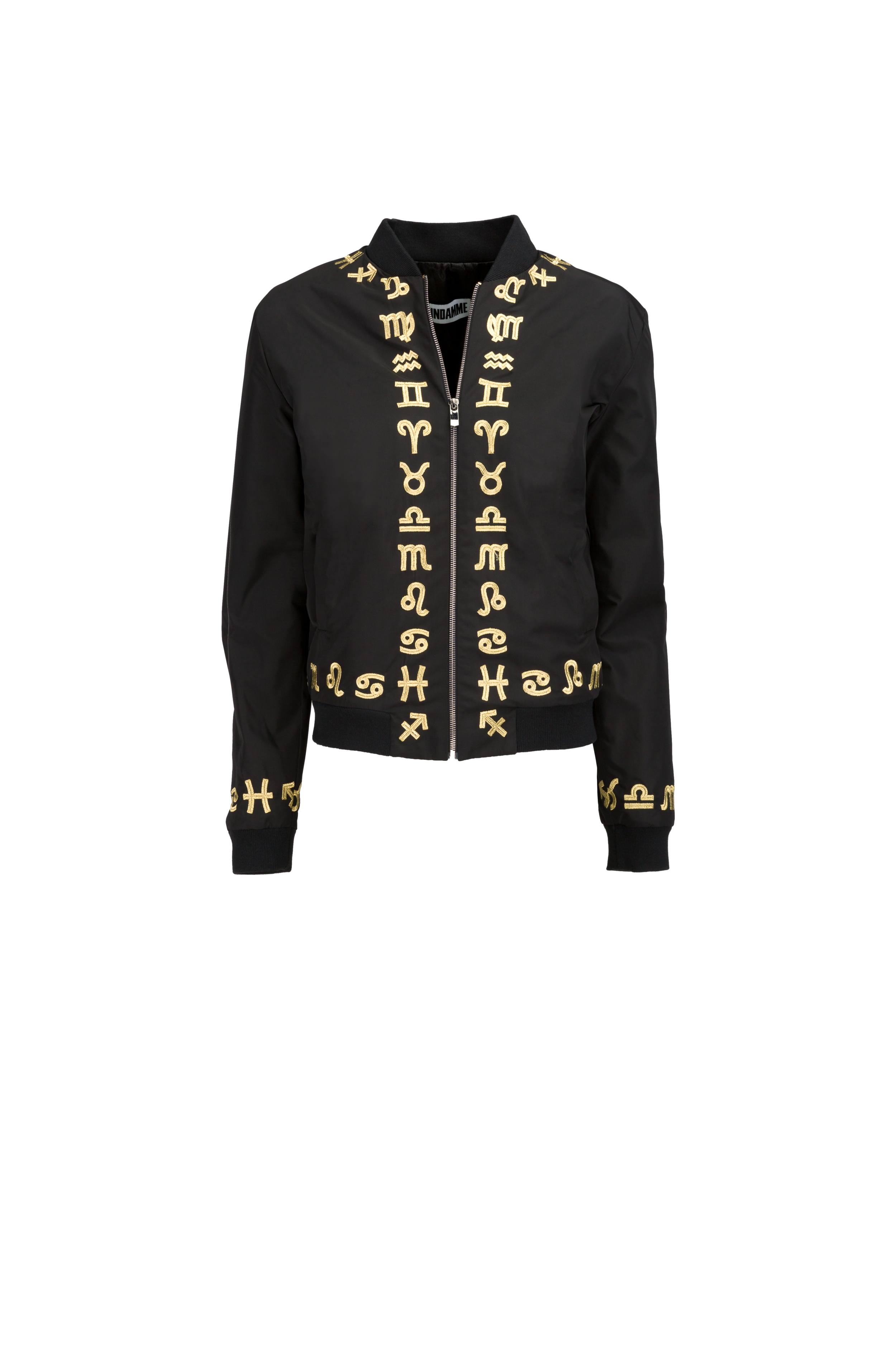 Nylon Zodiac Gold Embroidered Bomber (UNISEX)