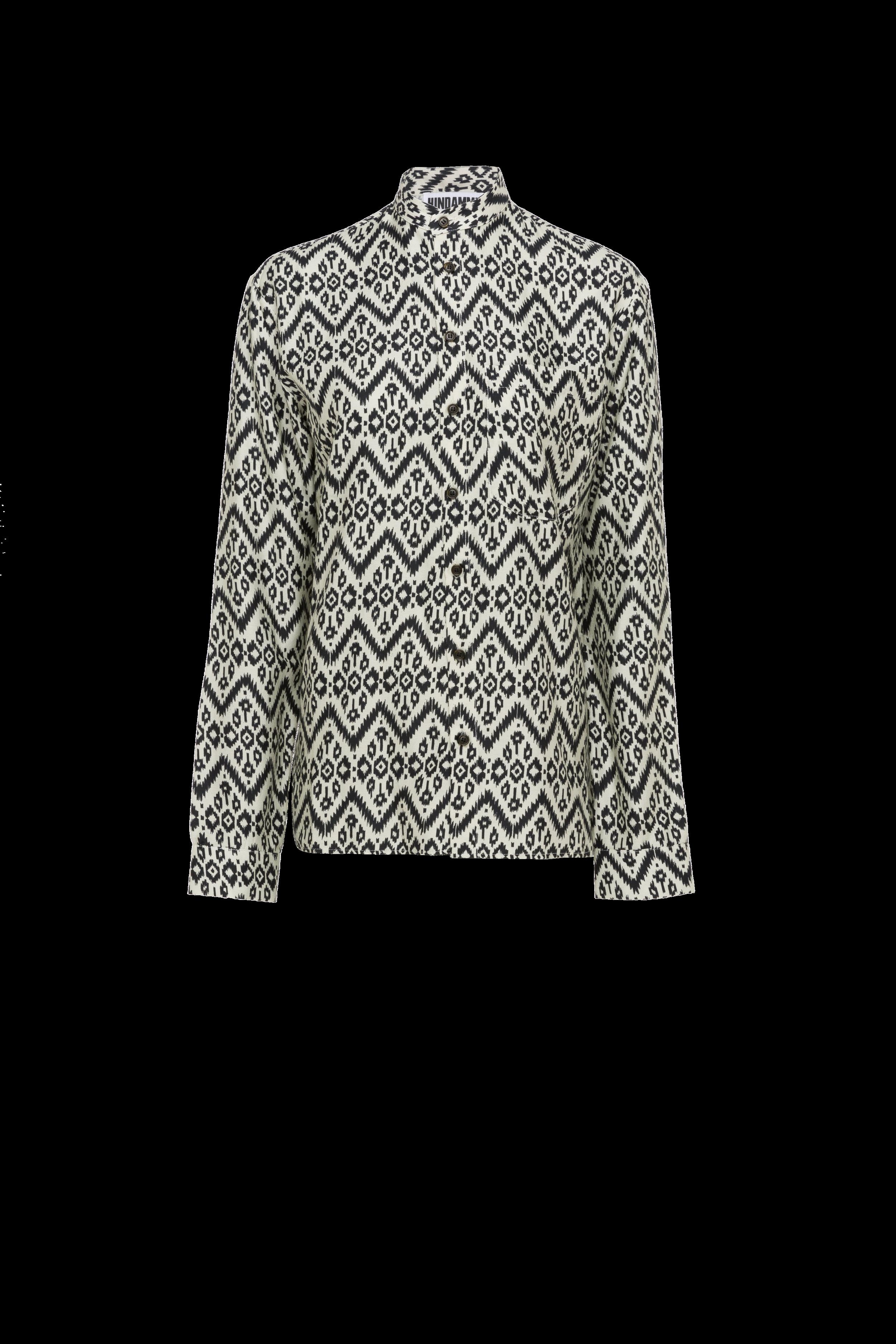 Tribal Mandarin Collar Shirt (UNISEX)