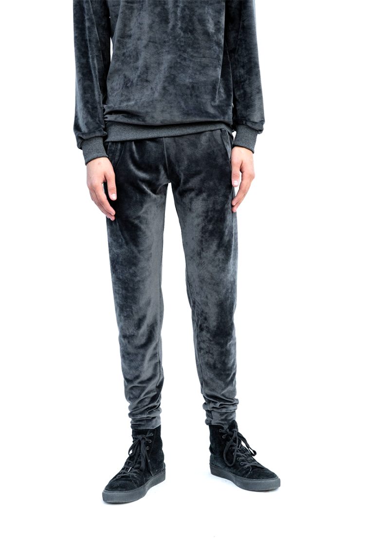 Dark Grey Velvet Track Pants1.png