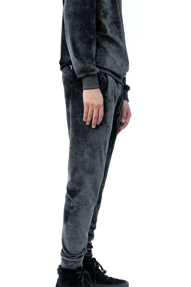 Dark Grey Velvet Track Pants2.png