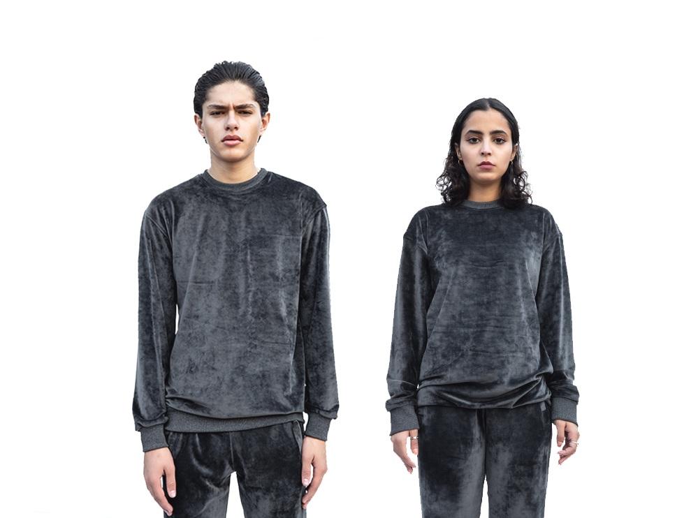 Dark Grey Velvet Sweatshirt (UNISEX)