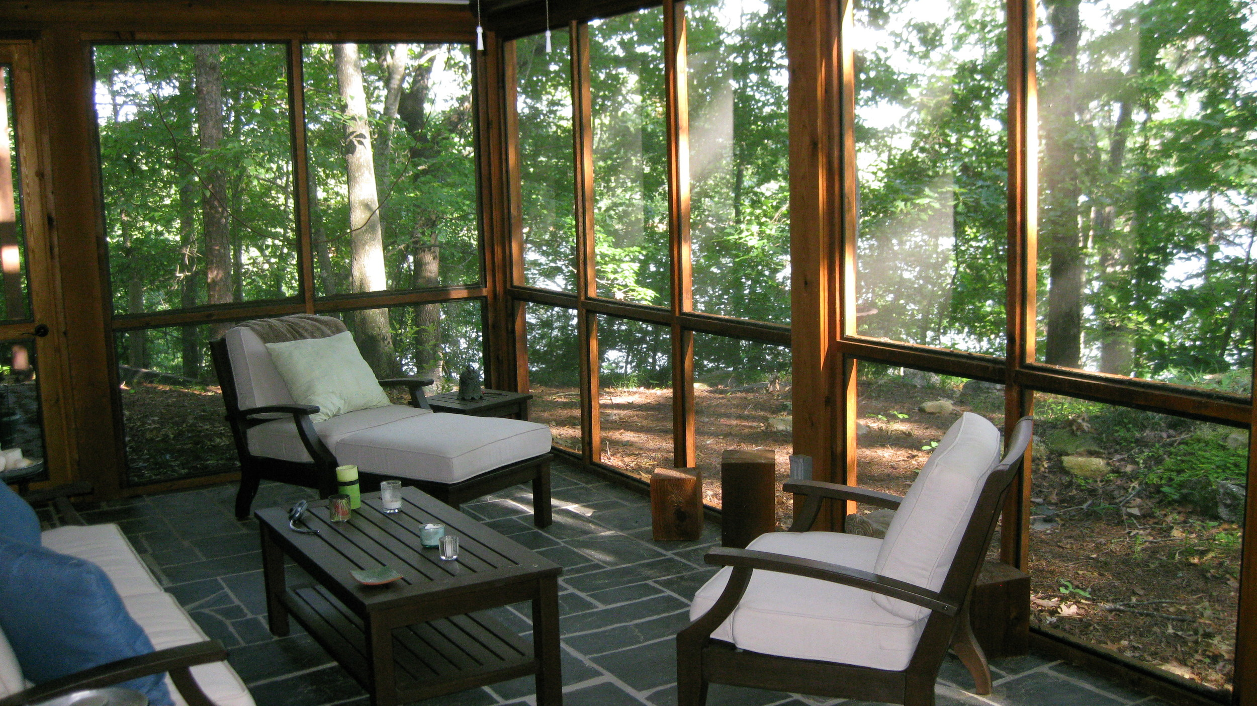 Screened Porch with Slate Floor