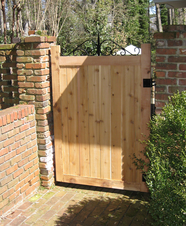 Custom Cedar Garden Gate