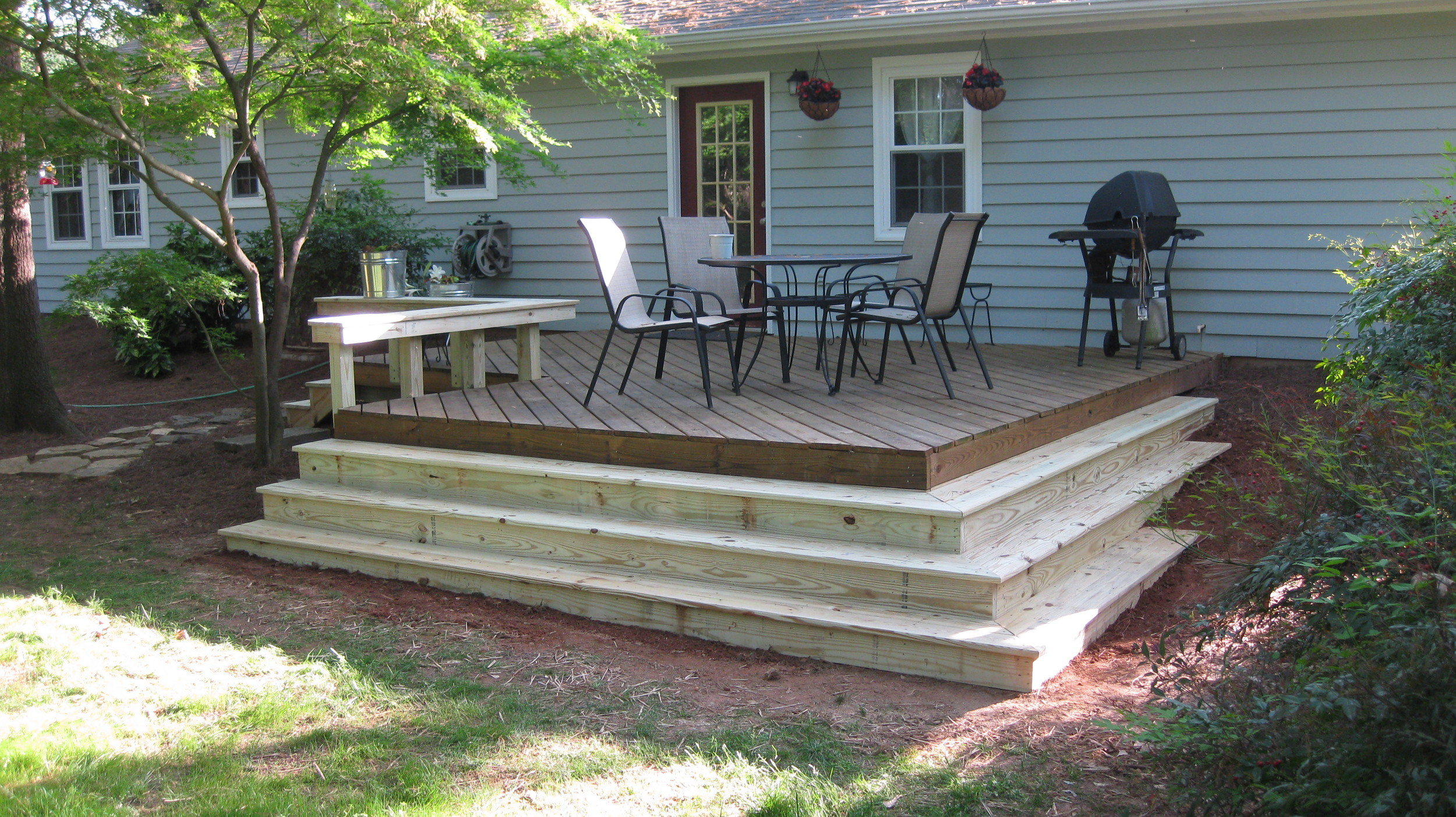 Steps and Bench on Existing Deck