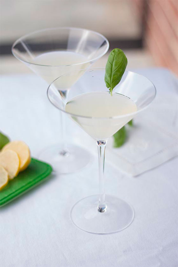 Bites & Sights Meyer Lemon Basil Martini