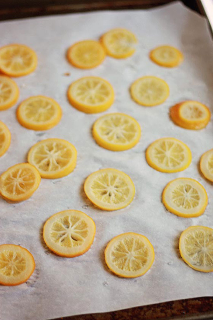 candied meyer lemon slices