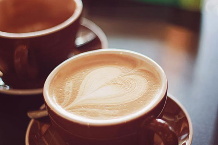 lattes at not just coffee