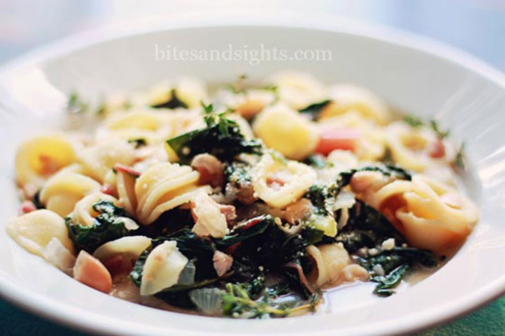 orecchiette with white beans and chard