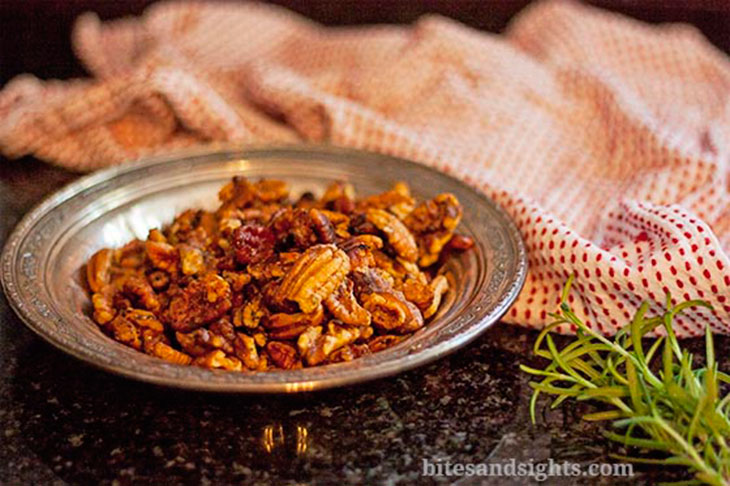 sweet and savory roasted nuts