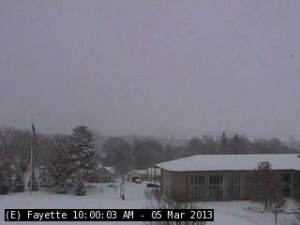 The KCRG-TV's Fayette CityCam, from the roof of Alexander-Dickman Hall