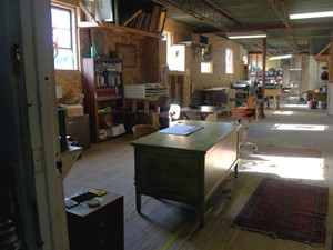 A view of Dinderbeck Studios' 2,000 sq ft studio space.