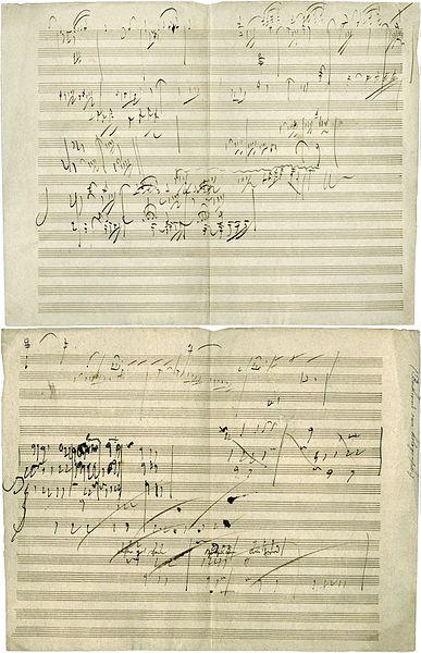 The Manuscript of Beethoven's Sonata Opus 101