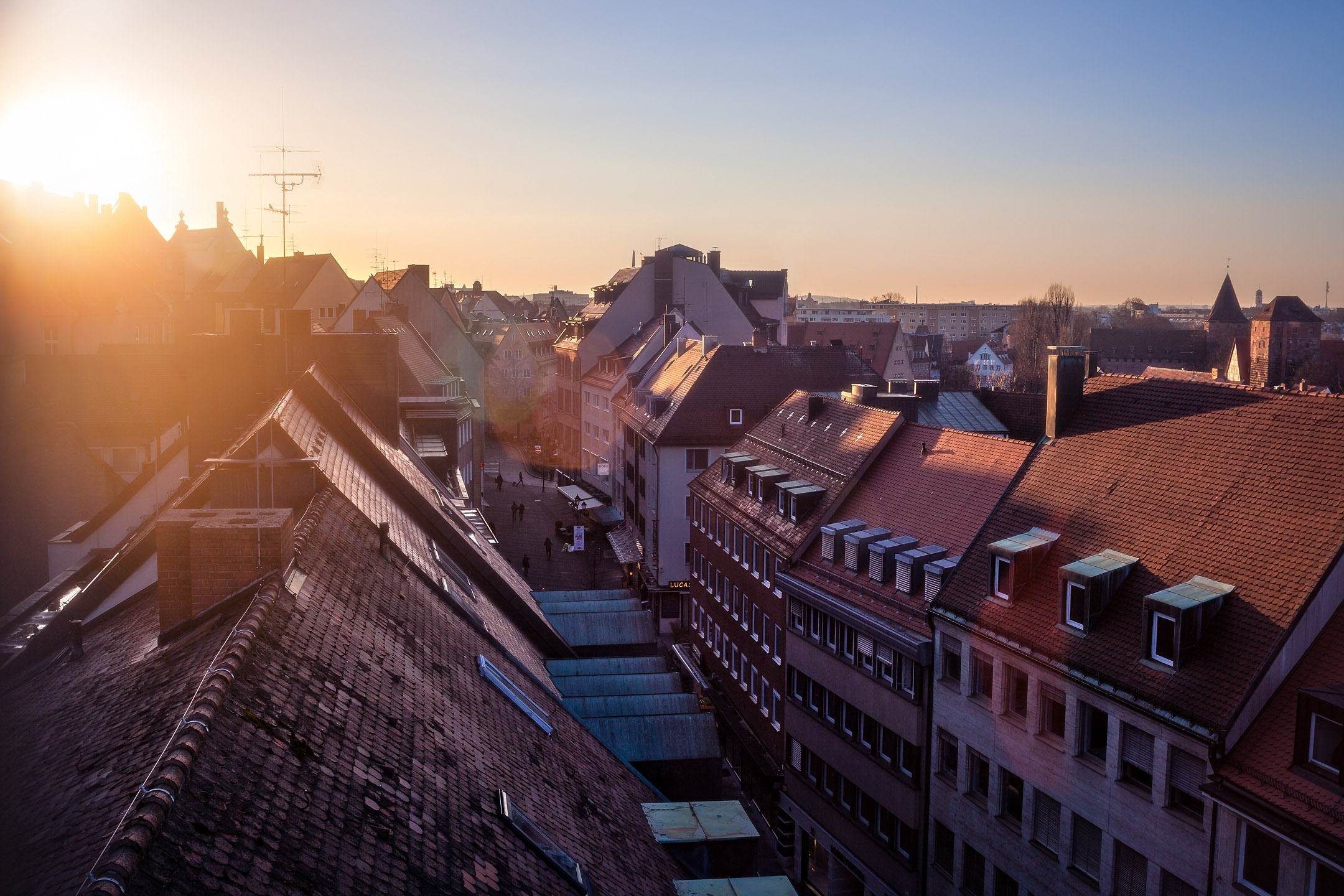Blick über Nürnbergs Dächer