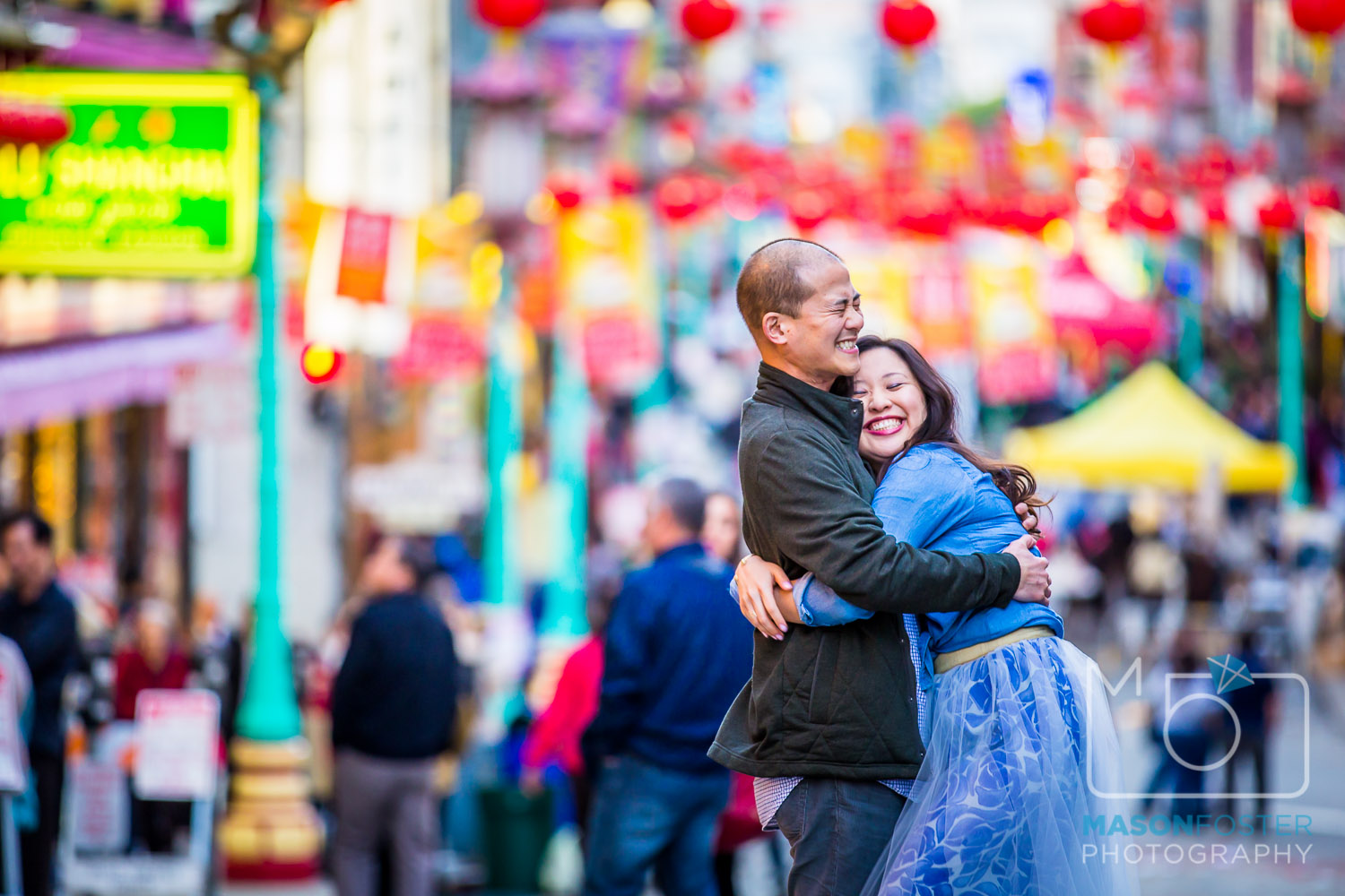 chinatown engagement photography