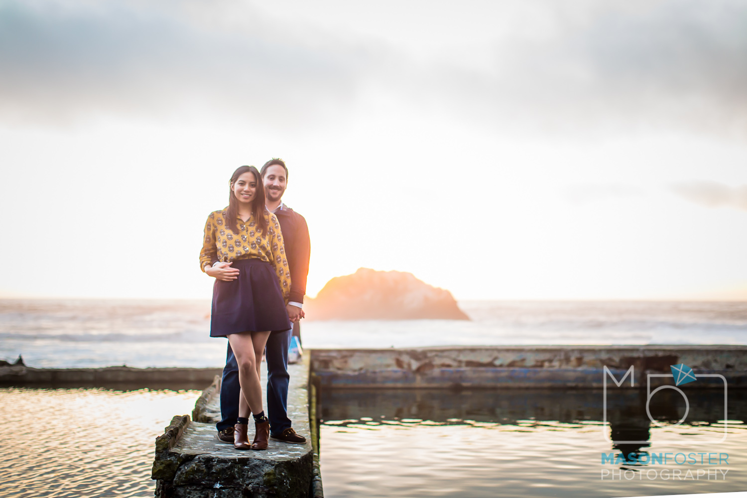 sutro baths engagement photography sunset in san francisco
