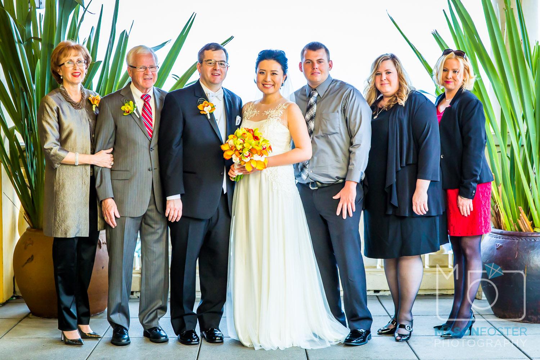 The groom's family.