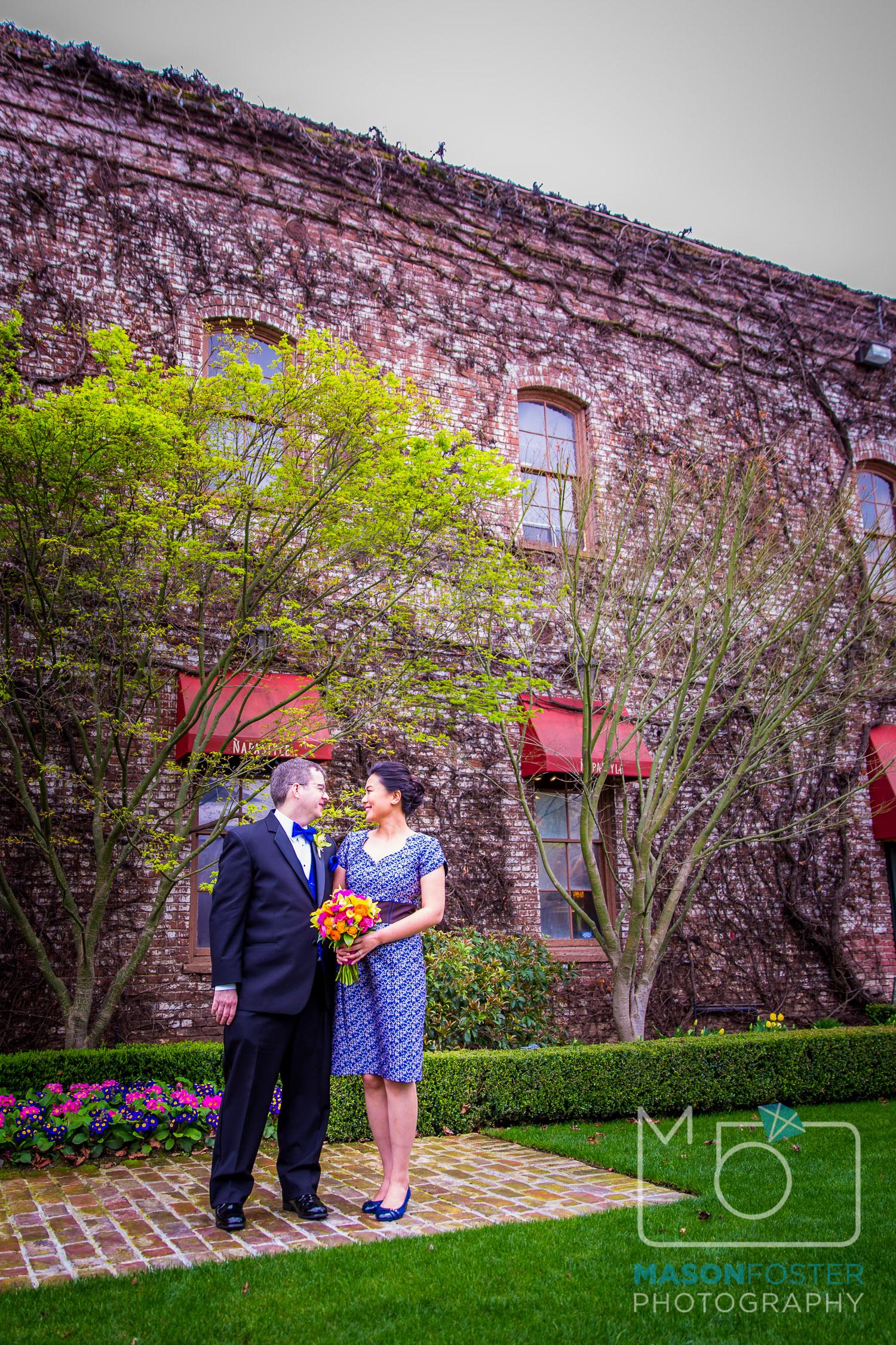 Wedding portraits at beautiful Bottega Napa Valley in Yountville.