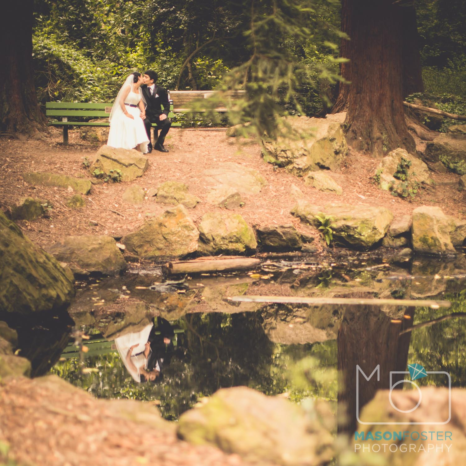 bride and groom portraits in stern grove | san francisco wedding photography