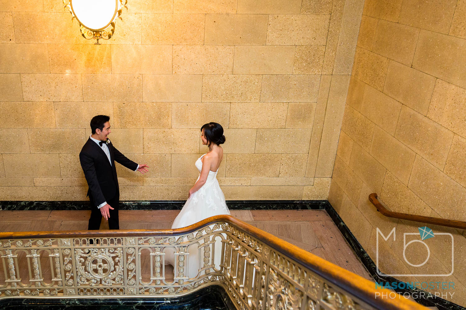 first look, wedding photography at the westin st. francis in san francisco