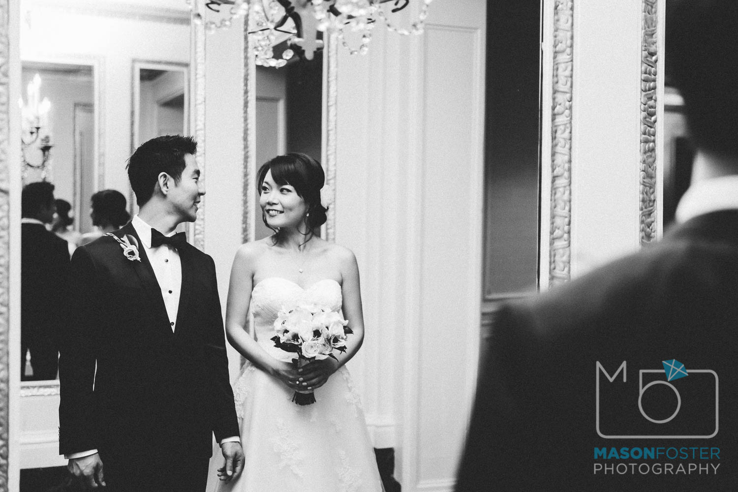 bride and groom portraits , wedding photography at the westin st. francis in san francisco