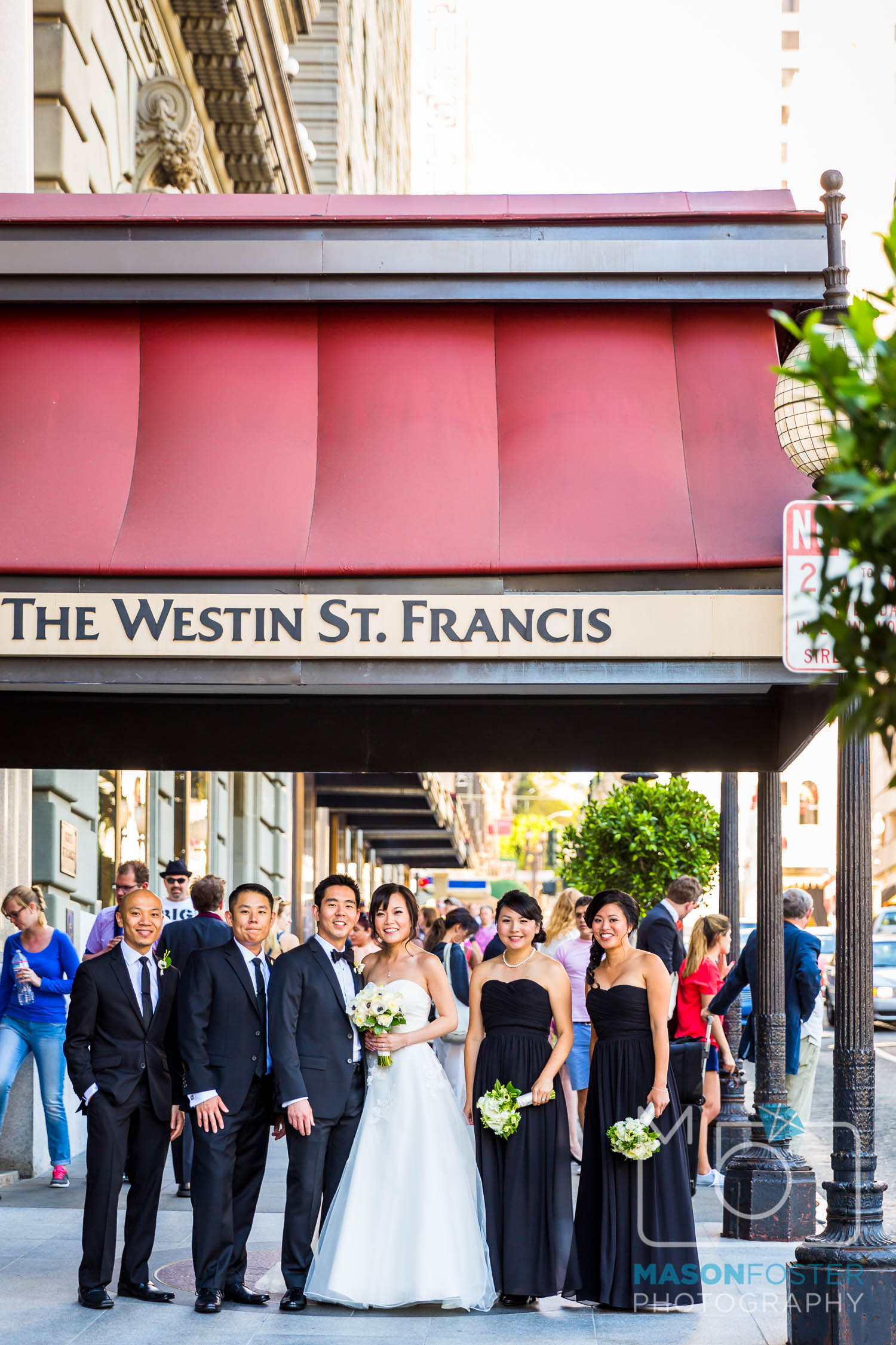 bridal party , wedding photography at the westin st. francis in san francisco