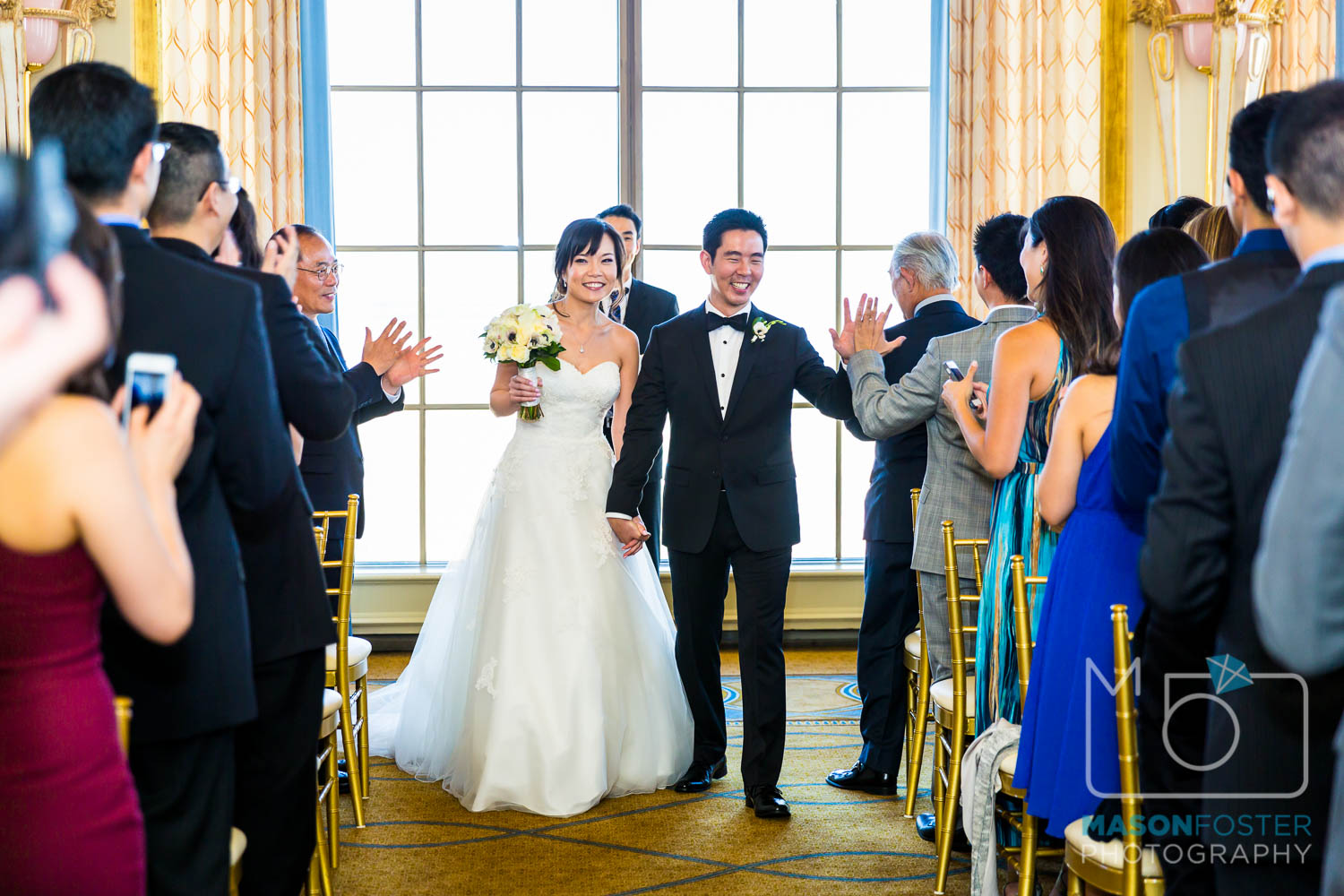 just married , wedding photography at the westin st. francis in san francisco