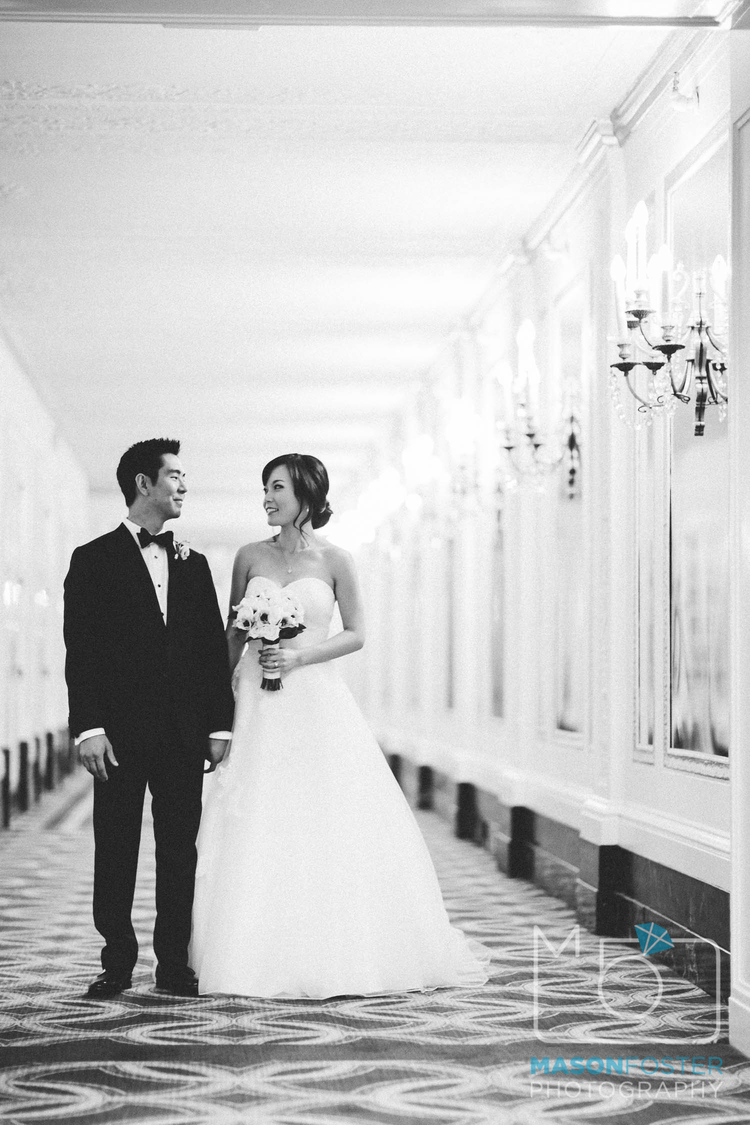 bride + groom , wedding photography at the westin st. francis in san francisco