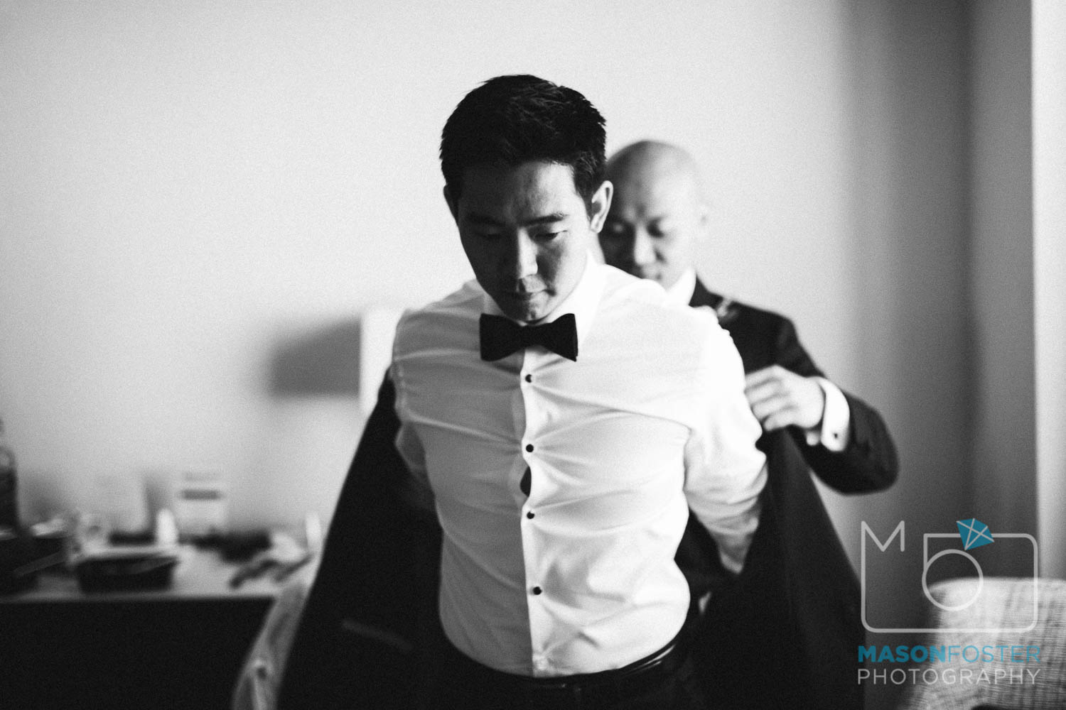 groom getting ready , wedding photography at the westin st. francis in san francisco