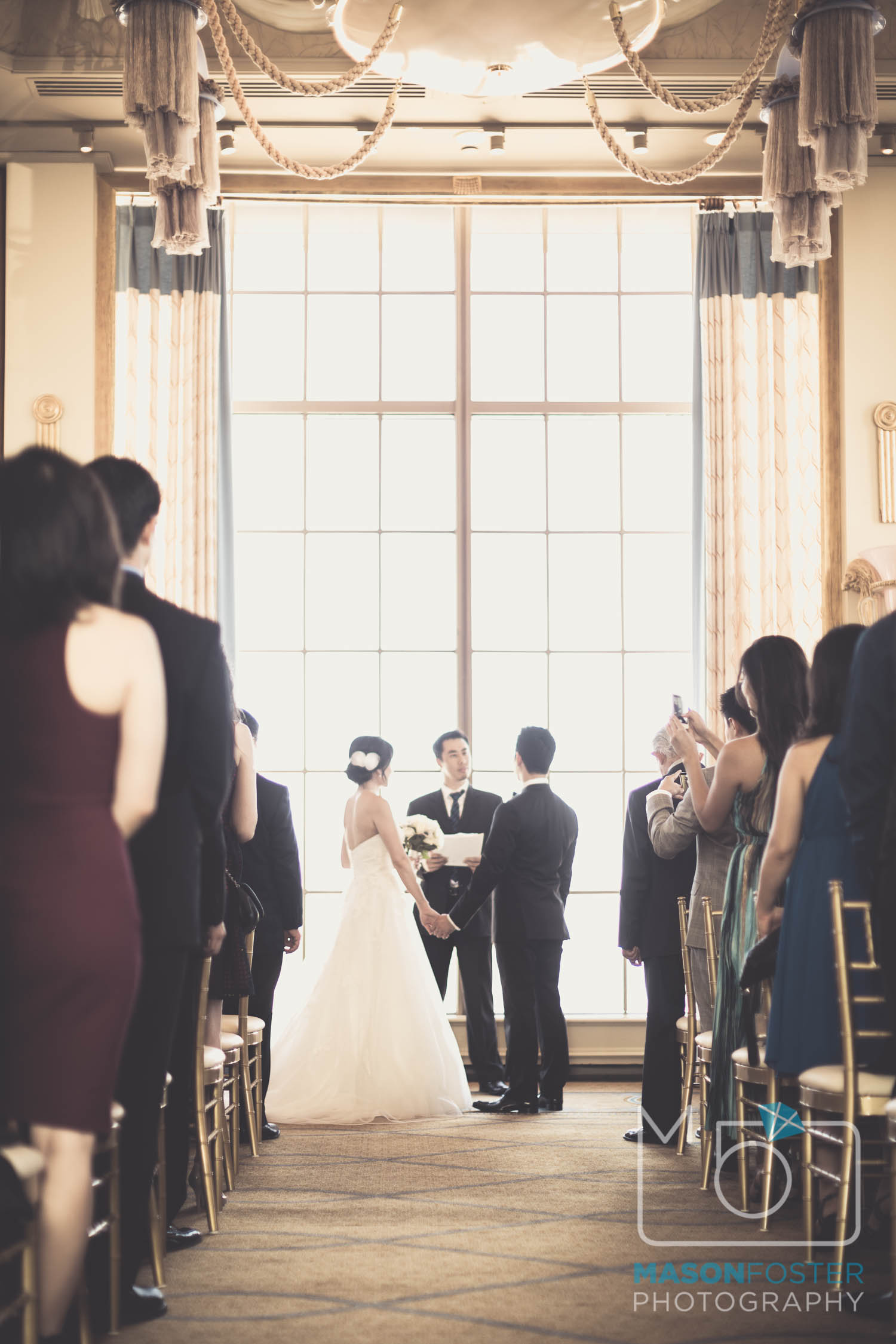 ceremony , wedding photography at the westin st. francis in san francisco