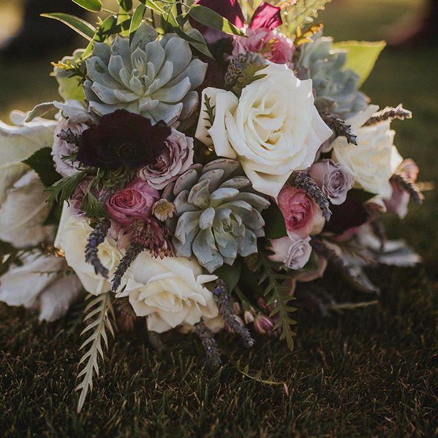 Beautiful bridal bouquet. Succulents are always a good idea.
