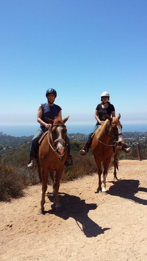 Horseback riding in Malibu