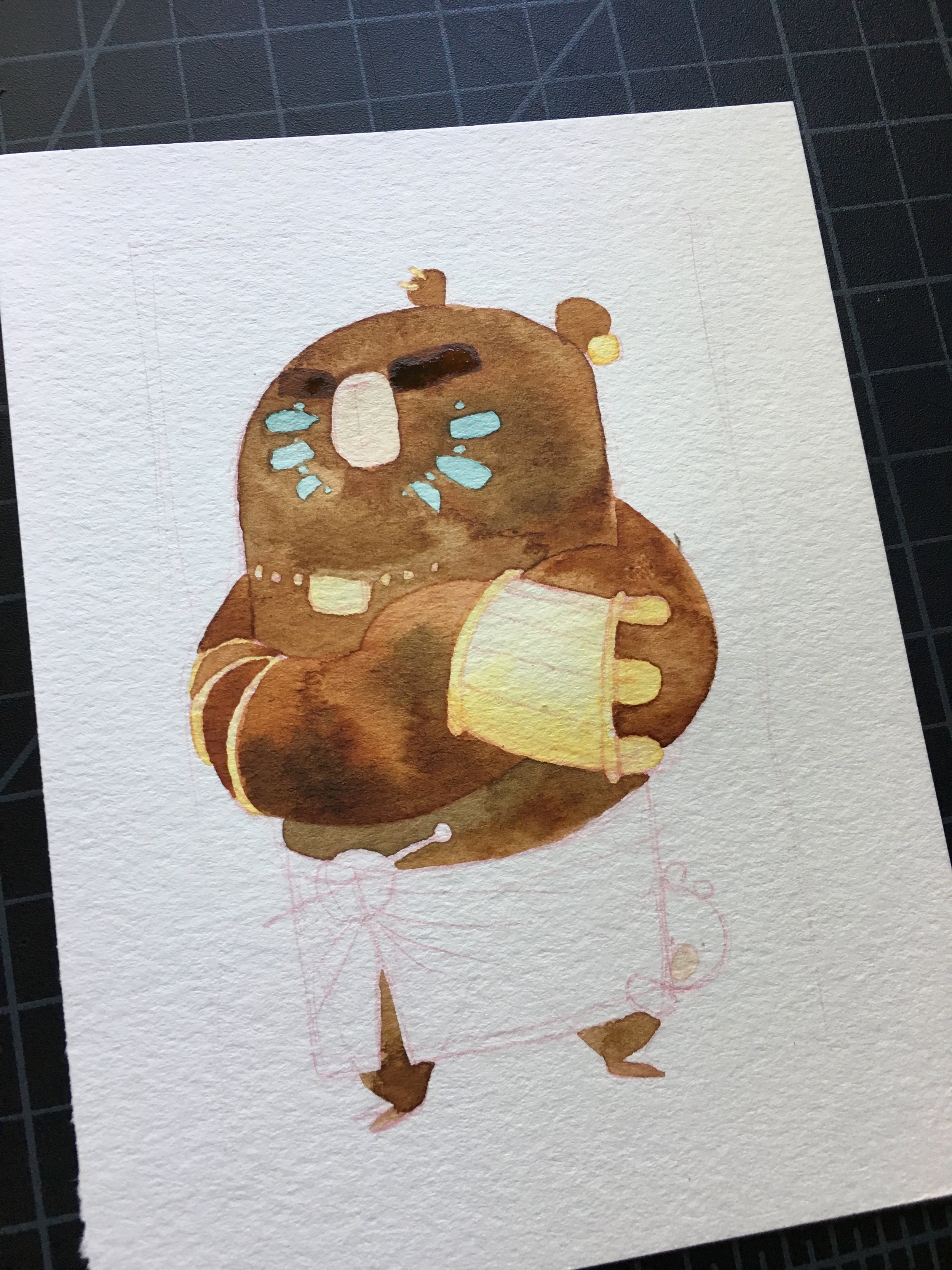 first layer of watercolor