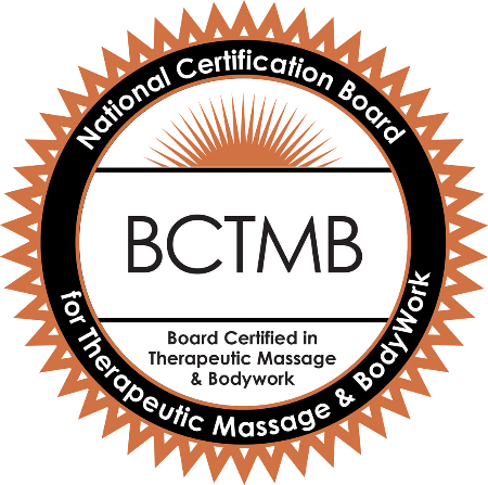 Nationally Board Certified in Therapeutic Massage and Bodywork