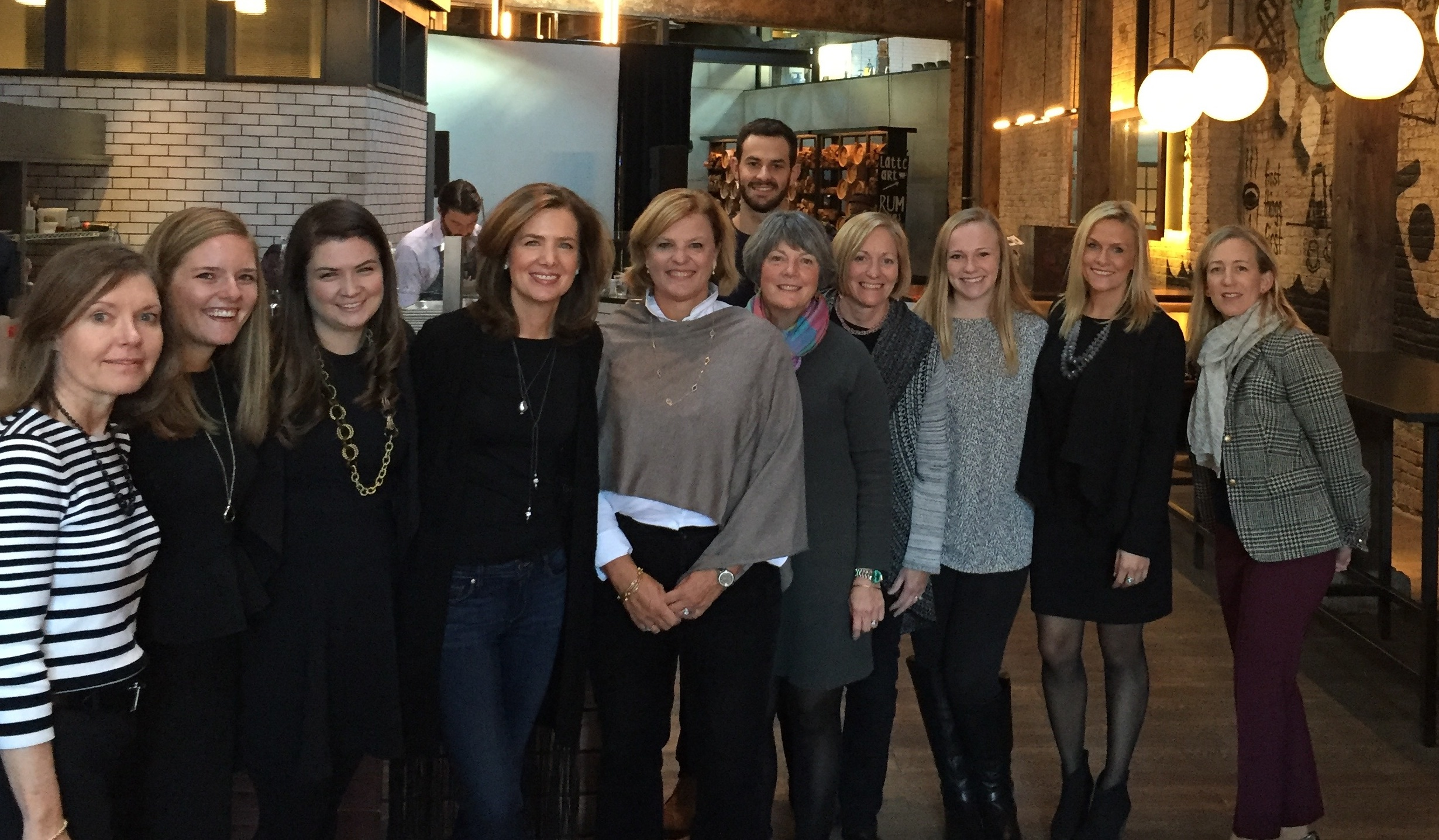 Thank you to our 10th Anniversary Bash volunteers: Lois Redmond, Paige Armstrong, Kara O'Halloran, Caroline O'Halloran, event chair Anne Cunningham, Jeff Kaiser, Betsy Aikens, Leslie Roy, Liesel Johantgen, Lexi Tocci, and Heidi Hole. Not pictured: Adrianna Akintobi, Shane O'Halloran and Julia Urwin.