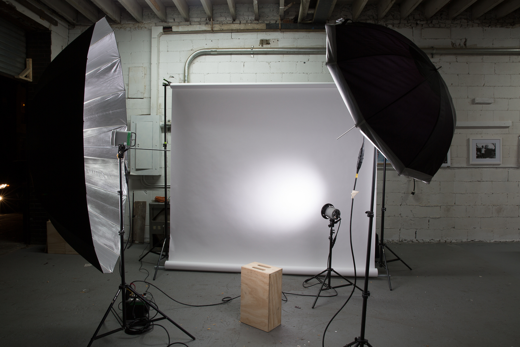 Our front gallery space can be used as a studio, light rental available.