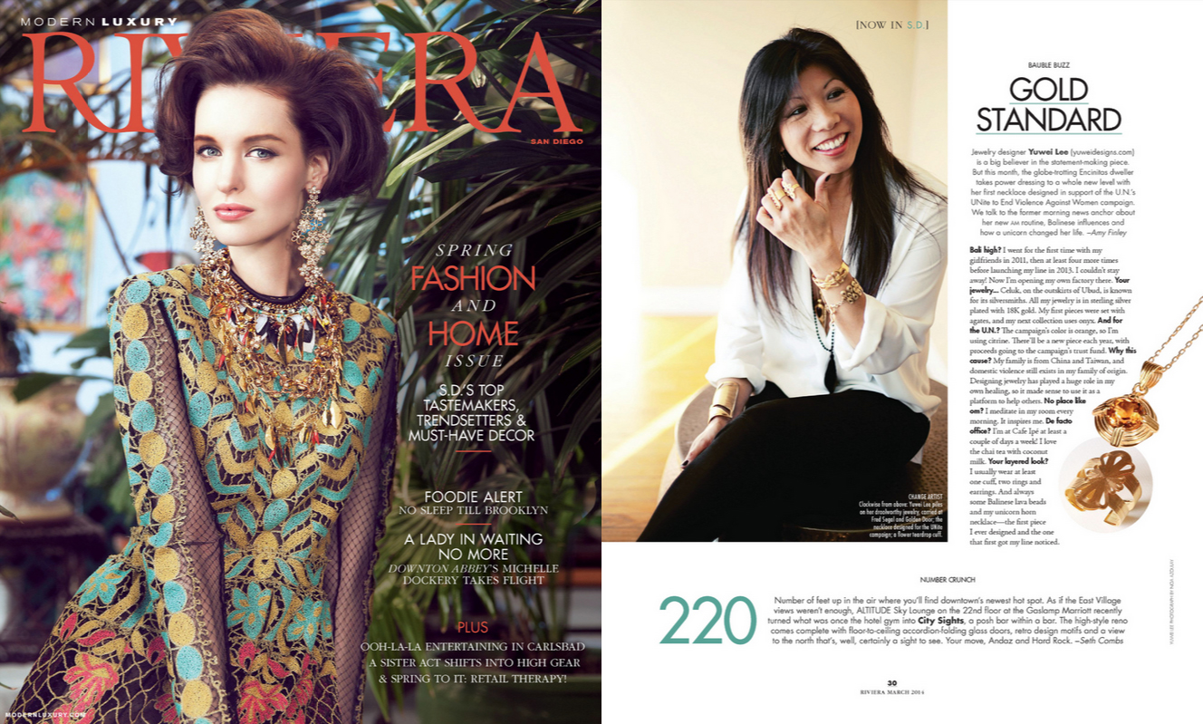 Riviera Magazine Spring 2014 Issue Cover