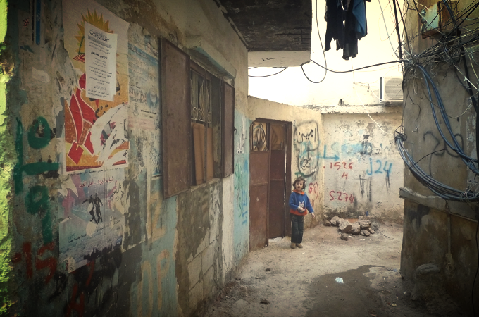 Bourj El Barajneh Palestinian Refugee Camp in the south suburbs of Beirut, Lebanon.