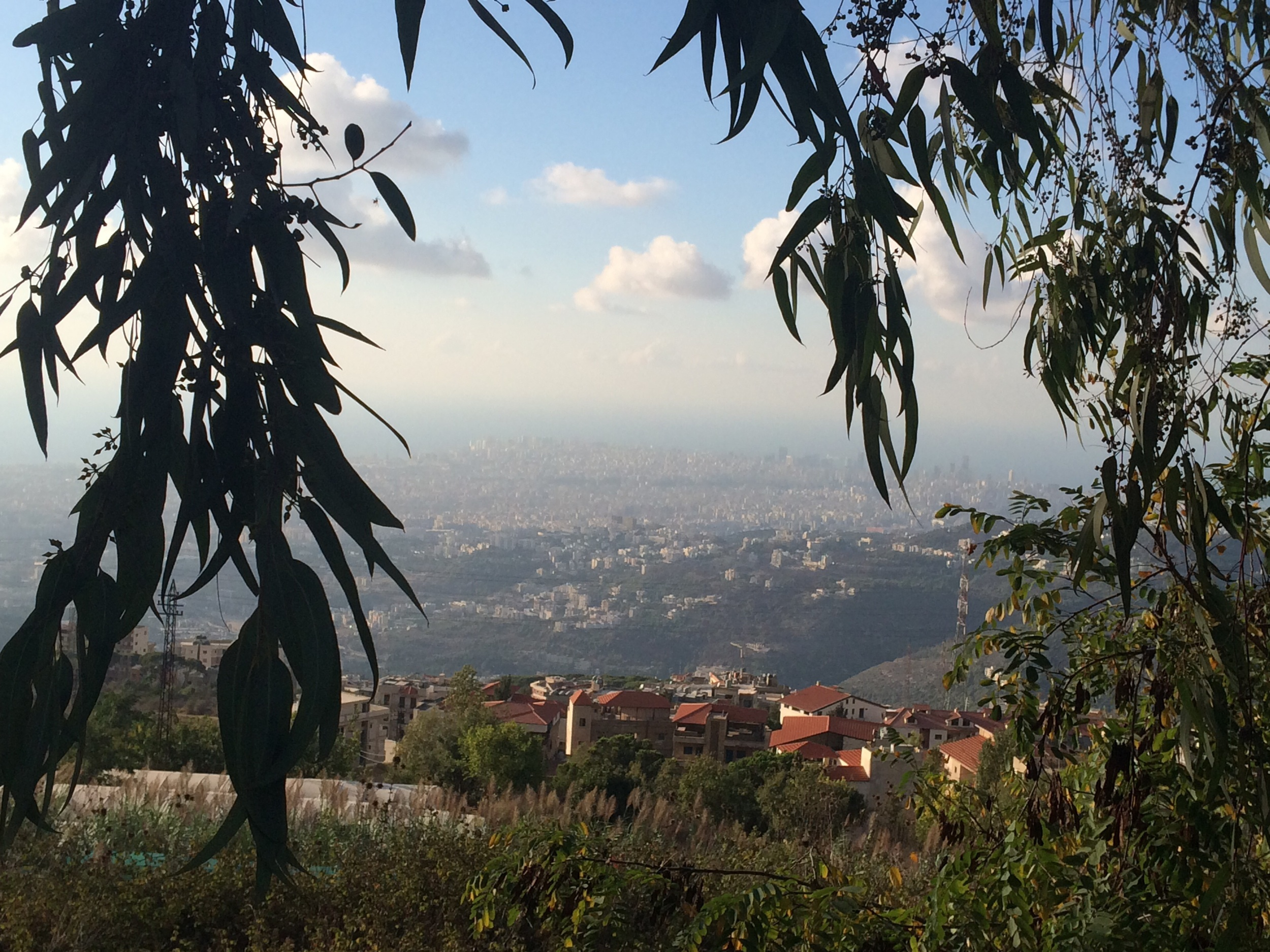A view of Beirut from the mountains.