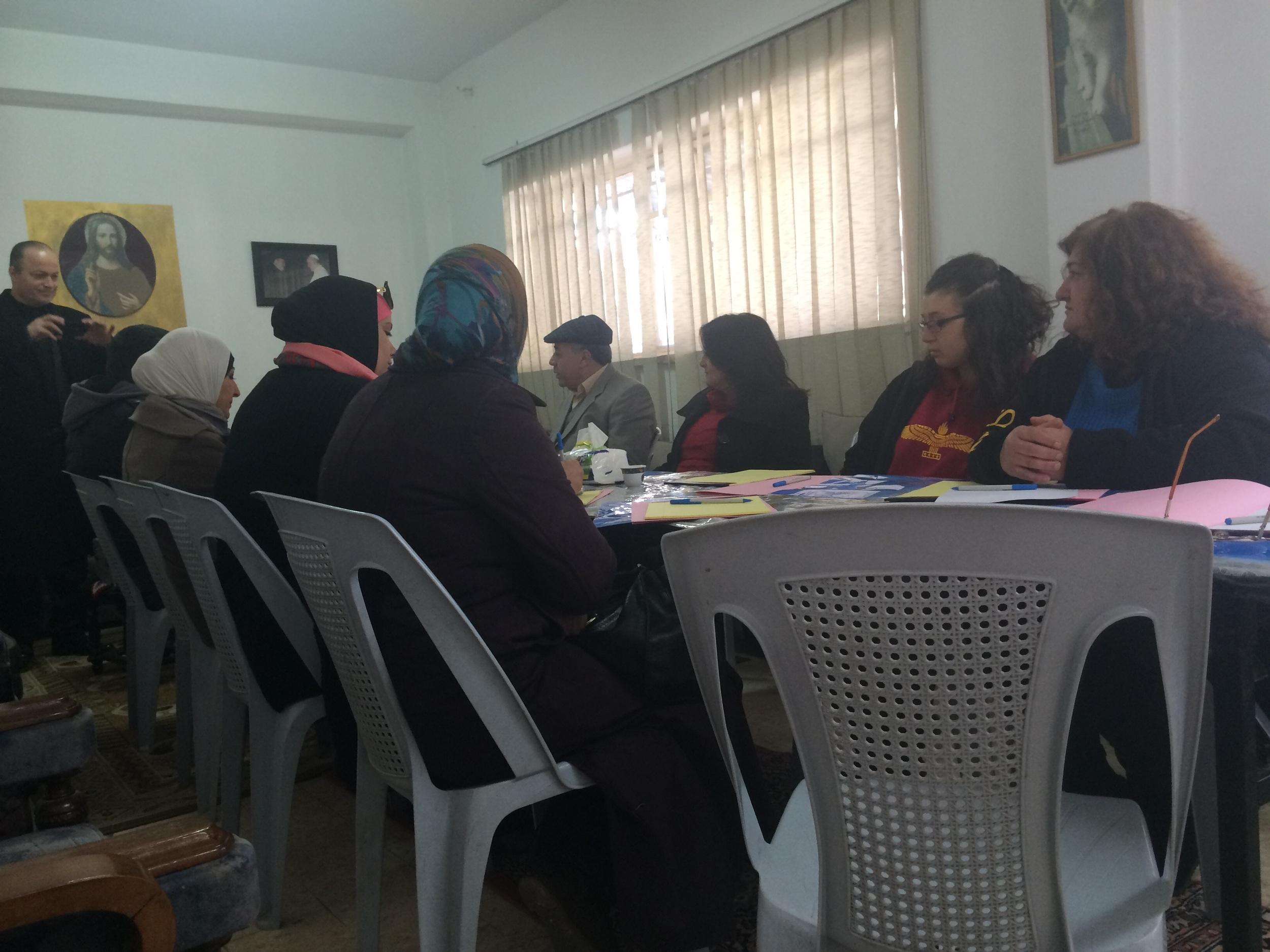DSPR Training at a Catholic Chruch in Ashrafieh, Amman.