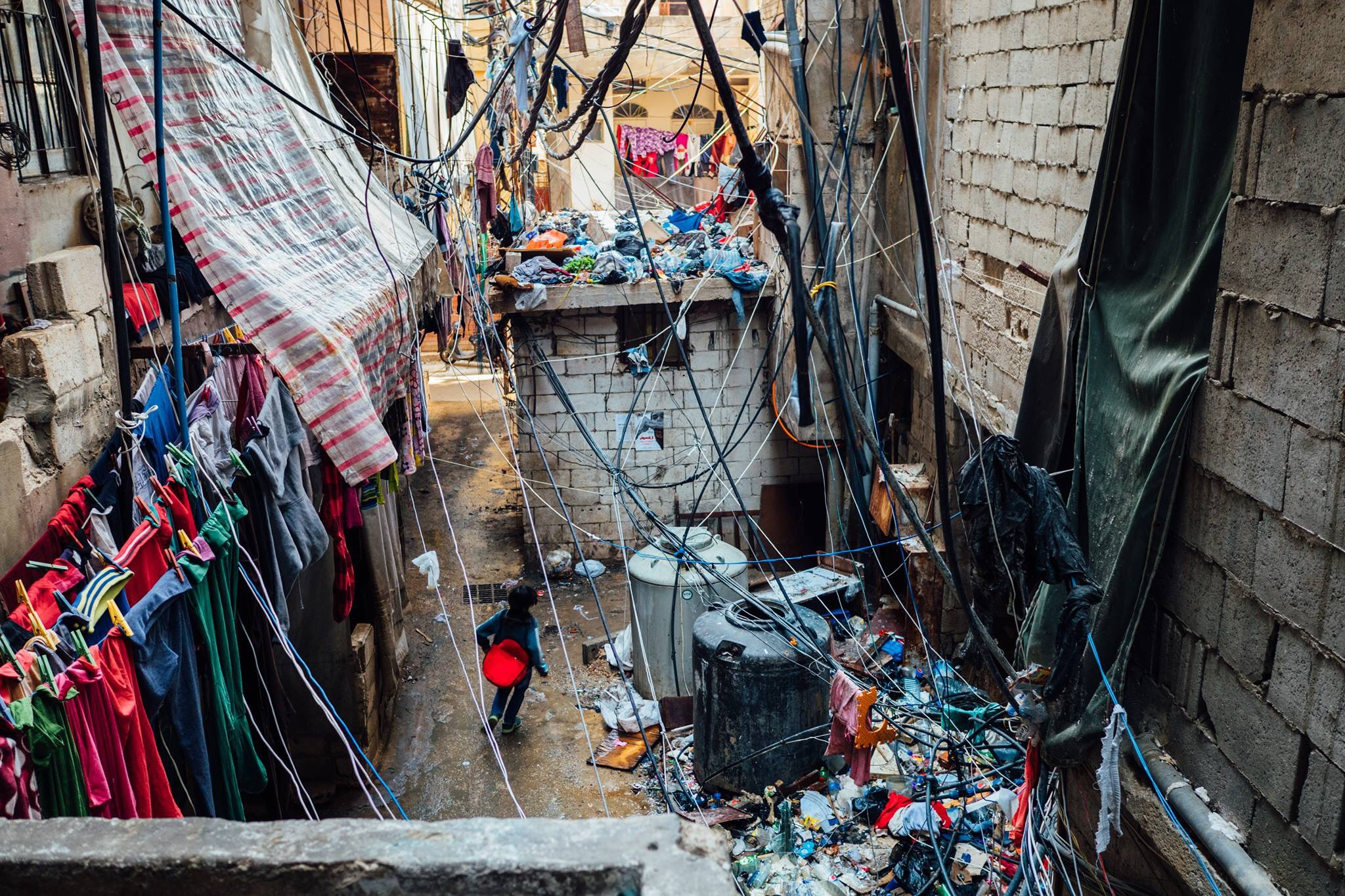 Chatila Palestinian Refugee Camp in central Beirut. December 11, 2015. Photo courtesy of Alex Meade.