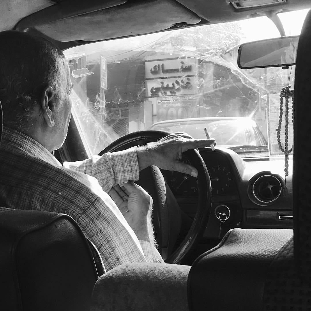 A Lebanese taxi driver. Beirut, Lebanon June 1, 2017 Photo courtesy of Alex Gazley