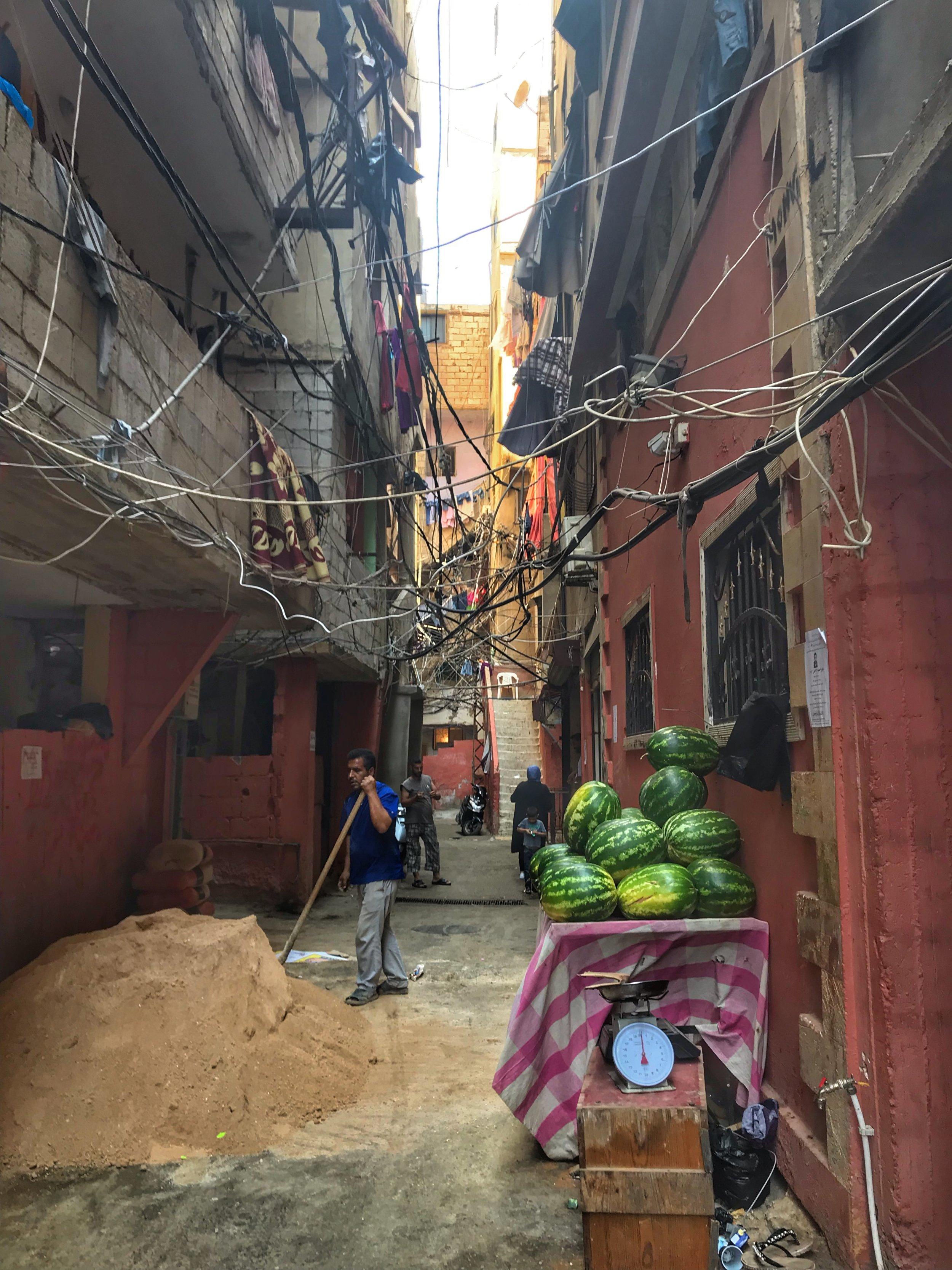 Shatila Palestinian refugee camp. Beirut, Lebanon. August 8, 2019.